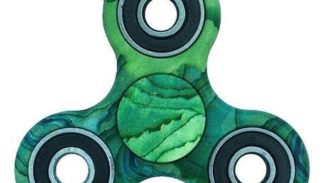 Zelený fidget spinner
