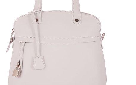 Bílá kabelka z pravé kůže Andrea Cardone Fiore - doprava zdarma!