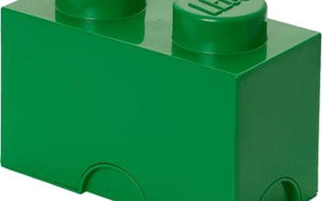 LEGO Úložný box 12x25x18 cm tmavě zelená