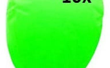 Lampión štěstí 10 ks - čepice - zelená