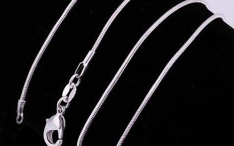 Elegantní řetízek ve stříbrné barvě - dodání do 2 dnů