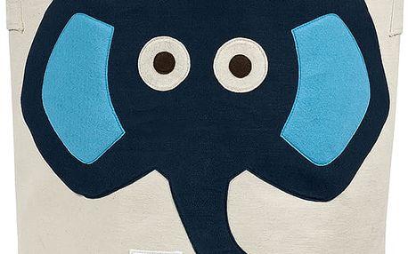 3 SPROUTS Koš na hračky Elephant Blue