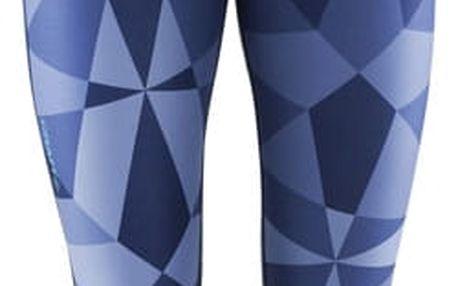 Craft W Kalhoty Pure Print 7/8 potisk tm.modrá L