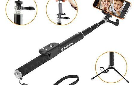 Selfie tyč GoGEN 4 teleskopická, bluetooth černá (GOGBTSELFIE4B)