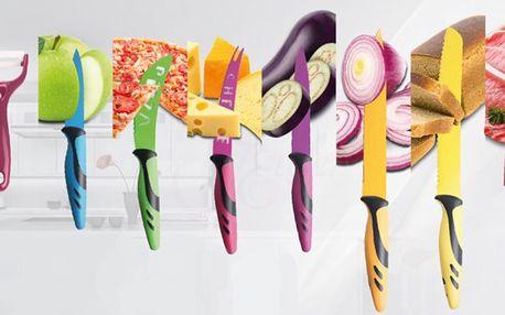 Sady nožů s nepřilnavým ostřím v dárkových kazetách