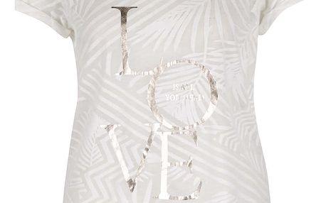 Krémové vzorované tričko ONLY Dare