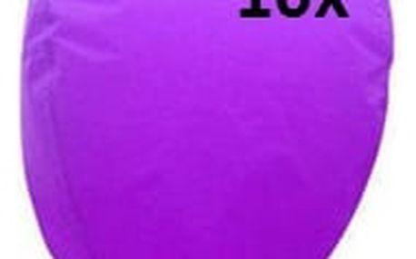 Lampión štěstí 10 ks - čepice - fialová