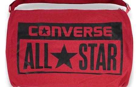 Tmavě červená sportovní taška Converse Legacy Barrel Duffel