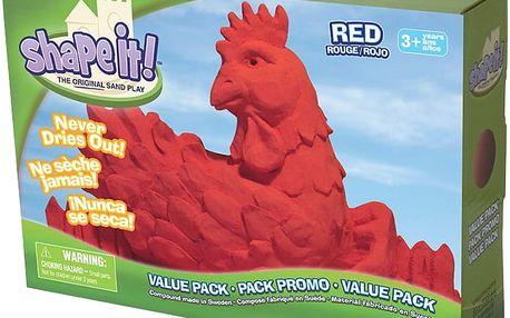 WABAFUN Shape it! písek 2,3 kg – červený