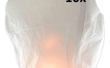 Lampión štěstí 10 ks - čepice - žlutá