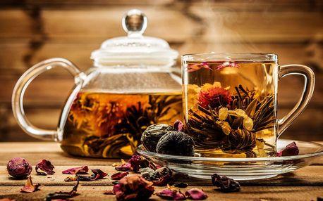 Kvetoucí ručně vázané čaje - kolekce 30 jednotlivě balených kusů v krabici