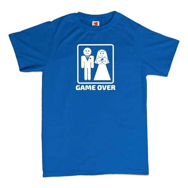 Tričko - GAME OVER - modré - XL