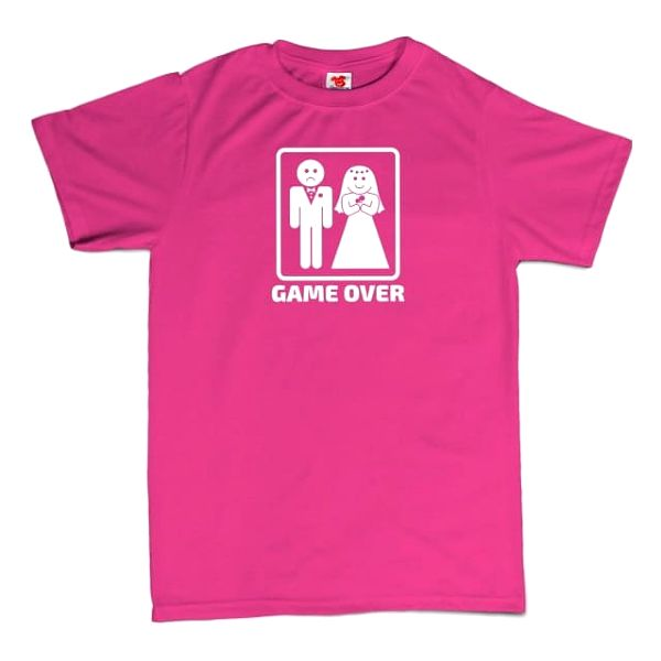 Tričko - GAME OVER - růžové - XXL