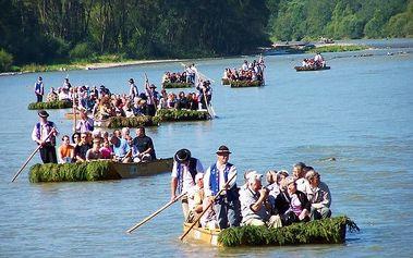 Splavení řeky Dunajec v Pieninách na voru + bohatý program u penzionu Eland