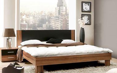 Helen - komplet, postel 180cm (matná černá, italský ořech)
