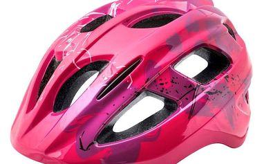Juniorská cyklistická helma R2 BONDY ATH07C Růžová/fialová M 56-58cm