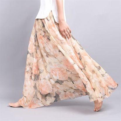 Dlouhá sukně s pestrými vzory - 7 variant
