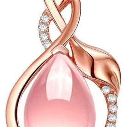Dámský náhrdelník - Růžová kapička