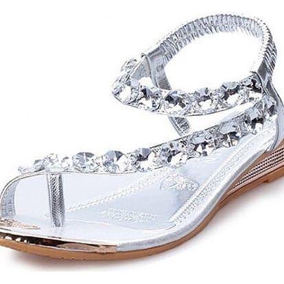 Dámské sandály s kamínky - 2 barvy