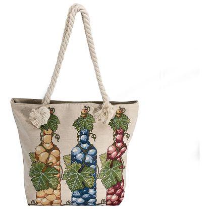 Fashion Icon Dámská taška Hrozno lněná