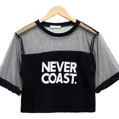 Stylové krátké tričko na léto - 2 barvy