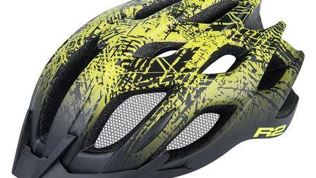 Unisex cyklistická helma R2 TOUR ATH13C Černá/žlutá L 58-61cm