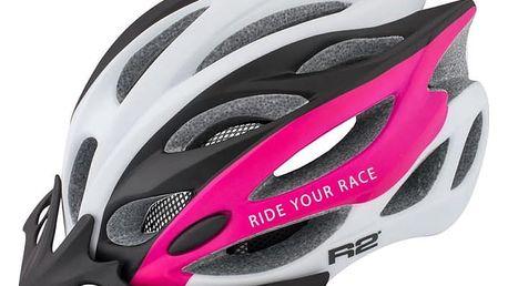 Dámská cyklistická helma R2 WIND ATH01G Růžová M - 56-58