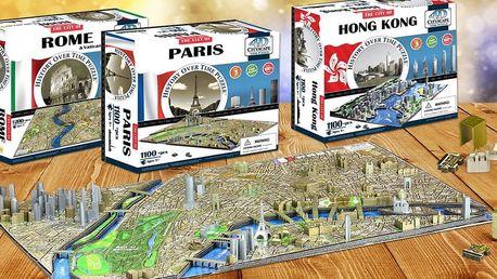 Světové metropole jako na dlani: 4D puzzle