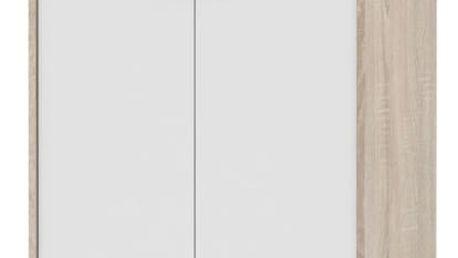 Kancelářská skříňka, dub sonoma / bílá, JOHAN 13