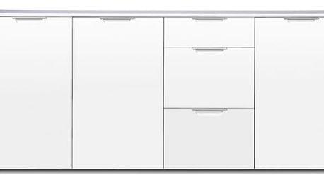 GW-Event - Skříňka, 3x zásuvka, 2x police, 192 cm (bílá)
