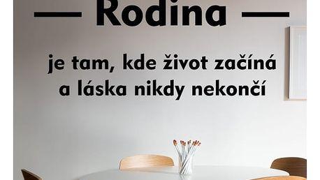 Samolepka na zeď - Rodinné motto