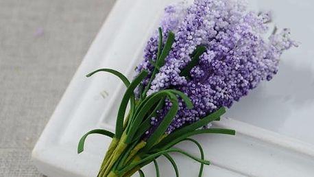 Umělá květina v podobě levandule - více barev