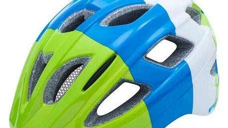Juniorská cyklistická helma R2 BONDY ATH07D Modrá/zelená S 52-56cm