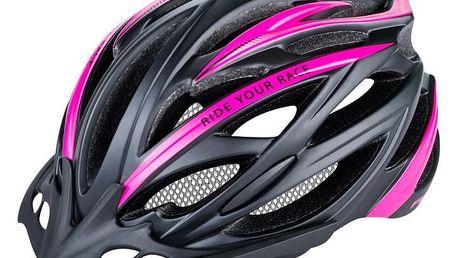 Unisex cyklistická helma R2 ARROW ATH04H Černá/růžová M 56-58cm