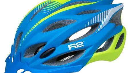 Unisex cyklistická helma R2 WIND ATH01J Modrá L - 58-61