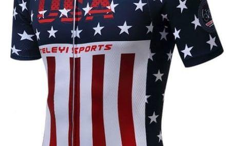Cyklistický dres s motivy amerických barev