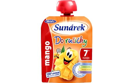 SUNÁREK Do ručičky mango 90g - ovocný příkrm