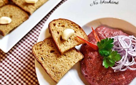 30% sleva na veškeré jídlo v Restauraci Na Farkáně včetně poledního menu