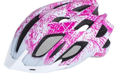 Dámská cyklistická helma R2 TOUR ATH13D Bílá/růžová M 56-58cm