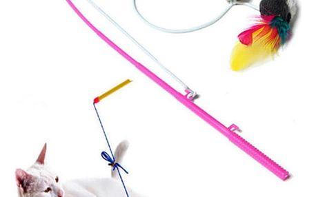 Hra pro kočky - myška na provázku - dodání do 2 dnů
