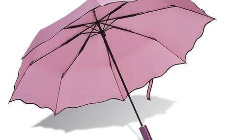 Selfie tyč Papaler P103 s deštníkem (P103) růžový