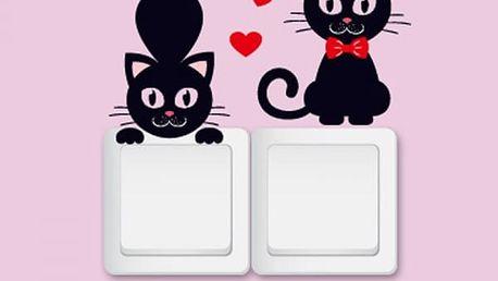 Samolepka na vypínač (2 kusy) - Kočičky