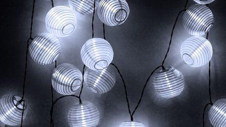 Solární LED řetěz s lampiony