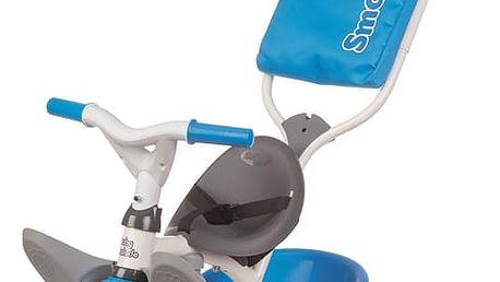 SMOBY Tříkolka Baby Balade modrá, stříška a taška