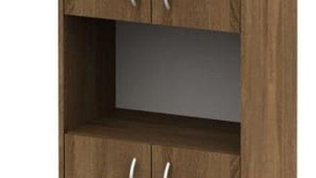 Kancelářská skříňka, bardolino tmavý, TEMPO AS NEW 003
