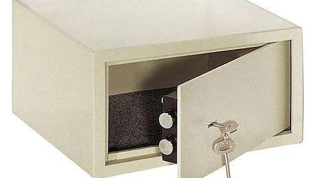 Trezor na klíč CEV 310x280x170mm (S-17K) šedý + Doprava zdarma