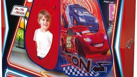 JOHN POP UP Dětský stan Cars 75x75x90 cm