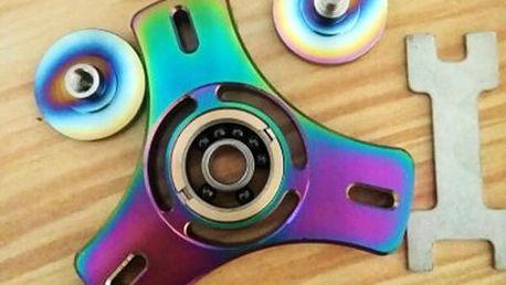 Ruční ložisko fidget spinner pro zlepšení koordinace a uvolnění stresu - duhová barva