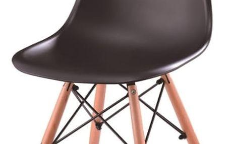 Židle, černá + buk, PC-015, CINKLA 2 NEW