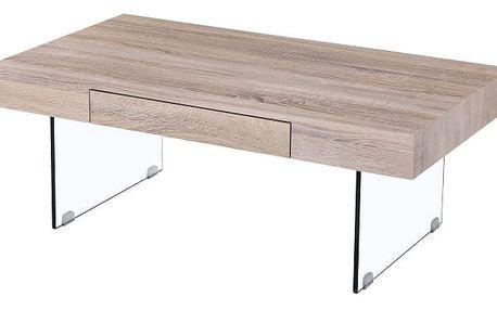Konferenční stolek se zásuvkou, dub sonoma, DAISY NEW